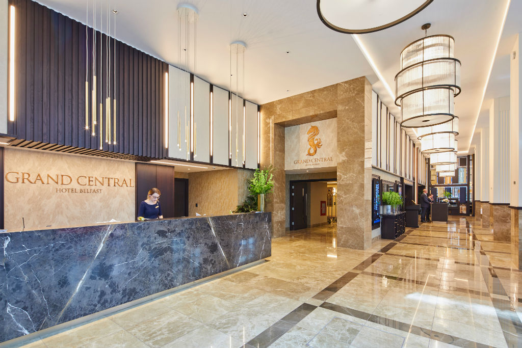 Grand Central Hotel Belfast: A showcase of beautiful bespoke signage & architectural features