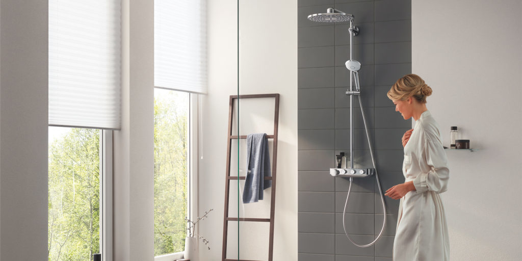 System Euphoria SmartControl By Grohe offers The Right Mix for Every Shower Experience
