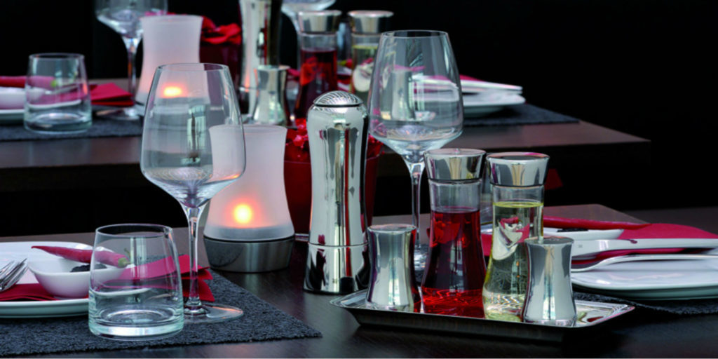 "WMF Professional brings colourful variety to the laid table with ""Divine"" water glass"
