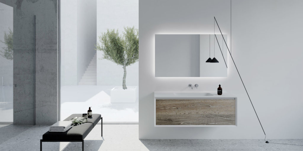 ONE and ONE UP by VALLONE®: New bath furniture collections turn bathrooms into private backstage-lounges