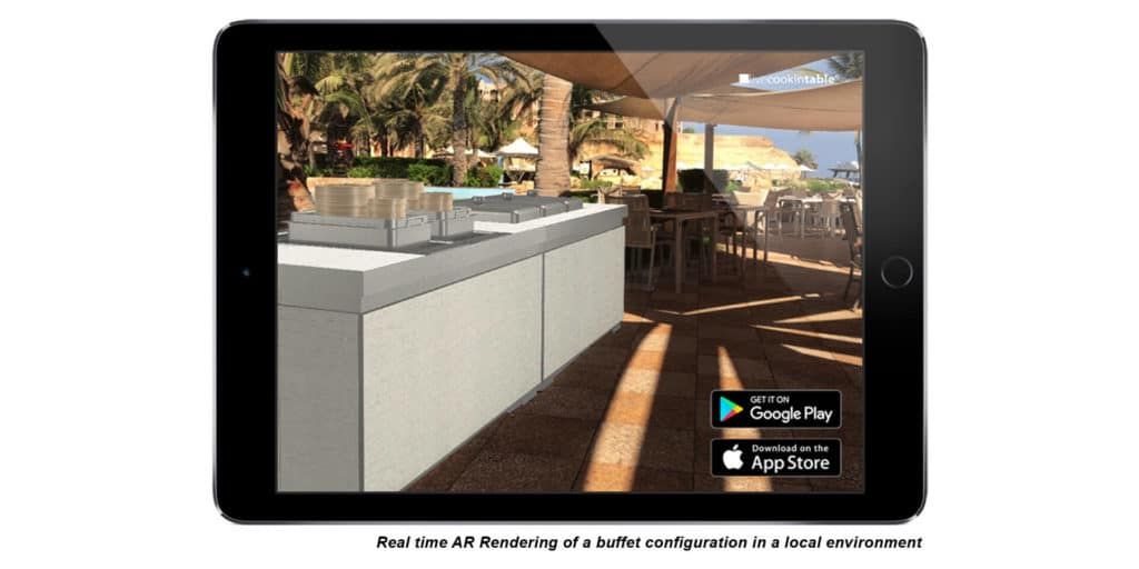 Augmented Reality – livecookintable defines the future of banquet hospitality with a newly released App solution!