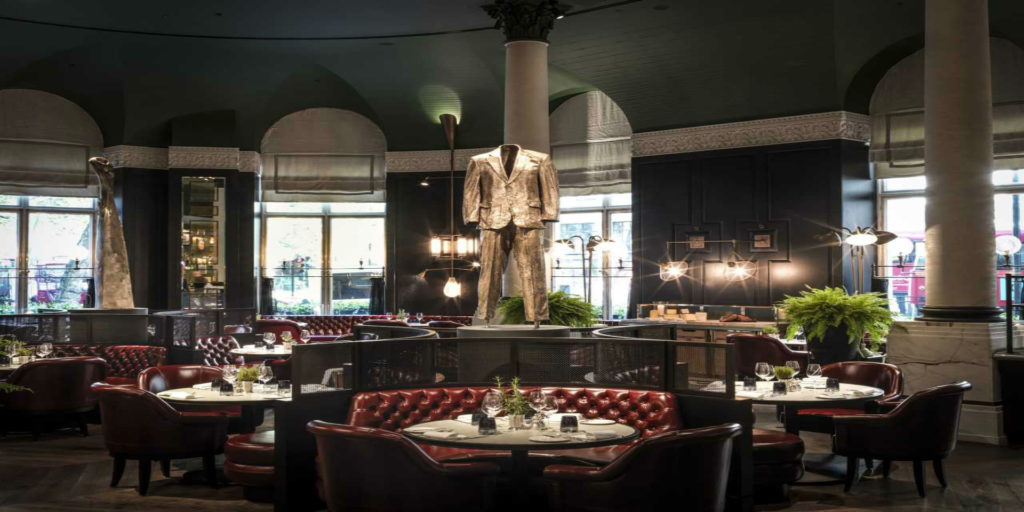 Pure CF manufacture a 'first class interior' for Tom Kerridge's debut London restaurant at the Corinthia Hotel