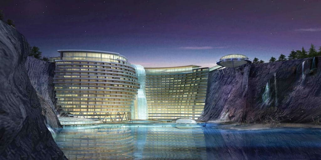 Boulder locations: Shanghai welcomes world's first quarry hotel