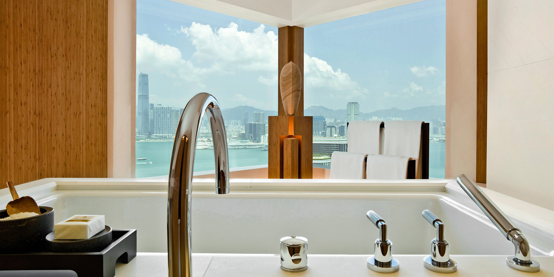 Design details abound in the Upper House hotel in Hong Kong