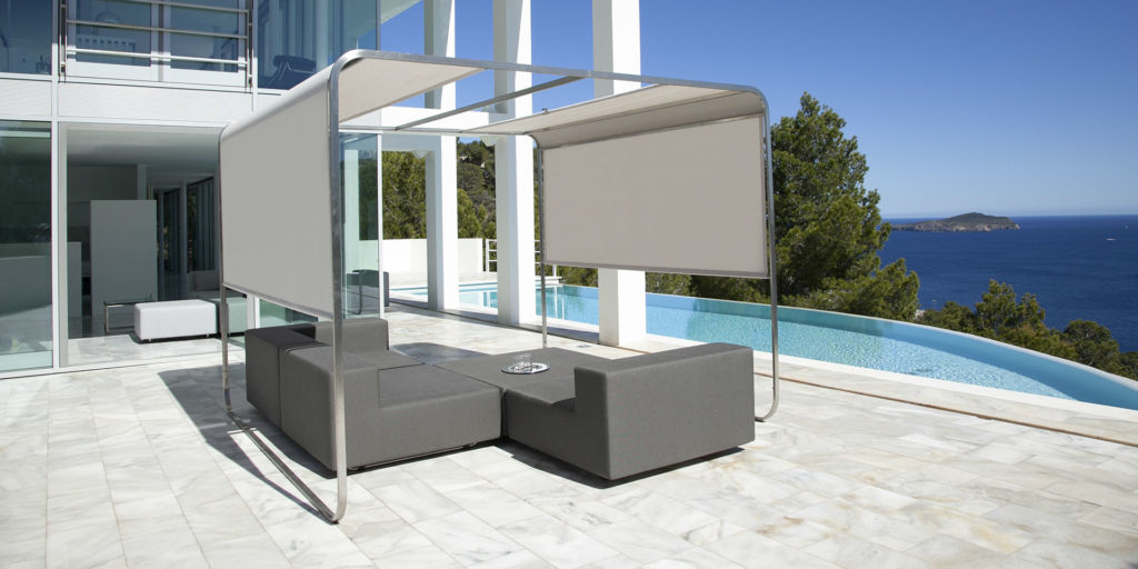 Flexible sunshade for hotel terraces by april furniture