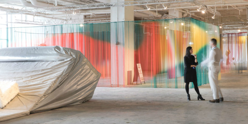 'Mishima' installation by Justin Morin X 4spaces at Collective Design NYC