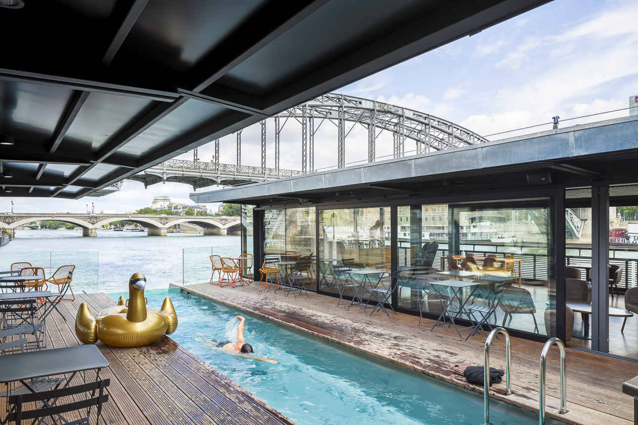 Floating hotel on the Seine merges river, city and relaxation in Paris