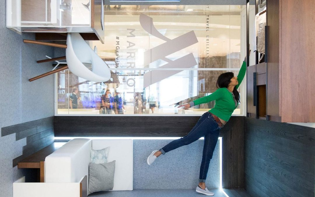 Marriott Hotels Flips Design on Its Head, Literally, with #MGravityRoom