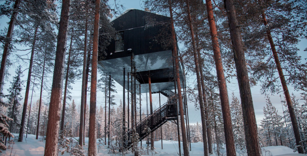 Sleep in the sky in new Swedish treetop cabin