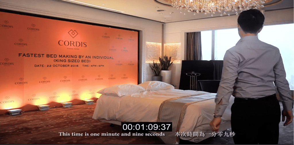 Cordis, Hong Kong housekeeping team member achieves Guinness World Record