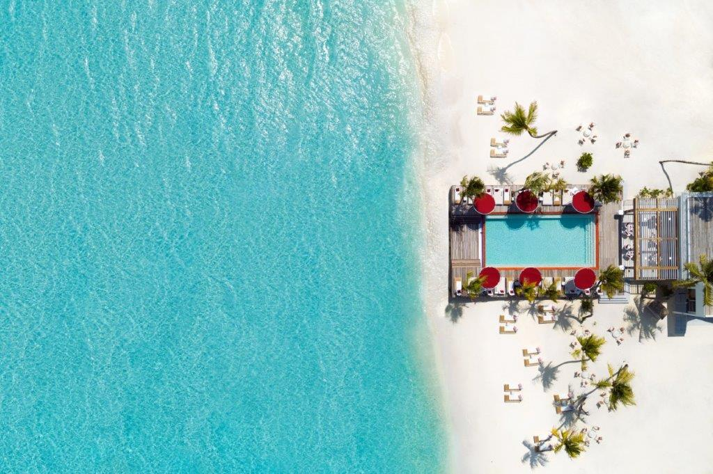 Beach Rouge Arial View at LUX North Male Atoll
