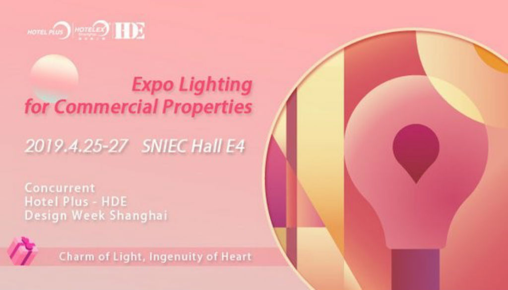 Hotel Plus – HDE 2019 to feature Expo Lighting for Commercial Properties