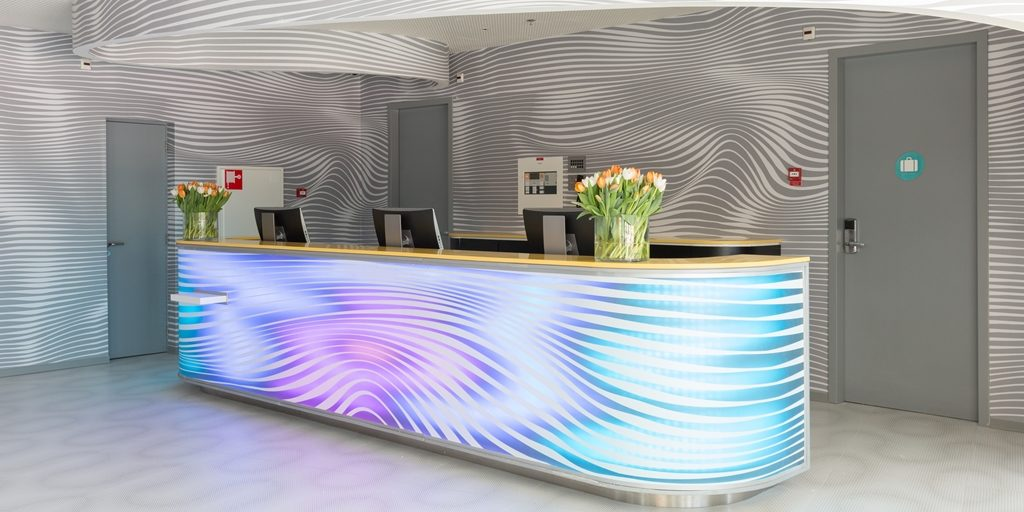 Ven Global is pioneering new reception desks; a part of its FF&E and Operational Supplies contribution to the world's hotels