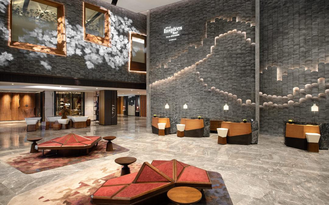 Renaissance Xi'an Hotel draws classic geometric game Tangram into its design