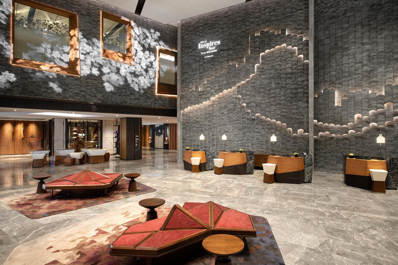 Renaissance Xi'an Hotel arrastra el clásico juego geométrico Tangram a su diseño
