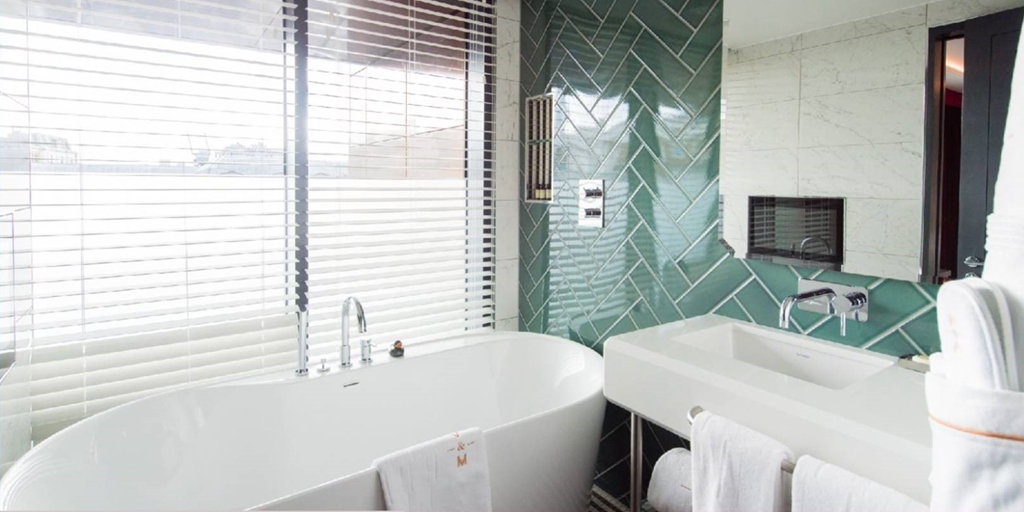 Vintry & Mercer Hotel equiped by Sanipex with high quality brassware and overhead rain shower