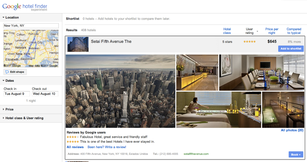 Google expands hotel searches to include vacation rental properties