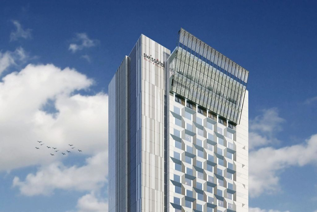 Accor's five-star hotel brand perched atop Bucharest's tallest building
