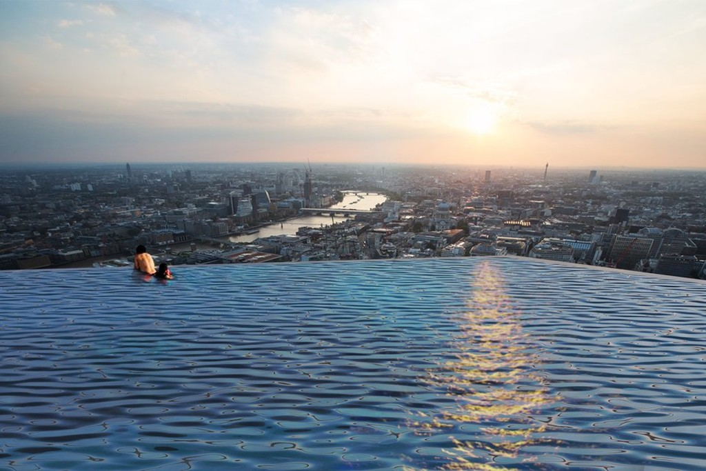 Come for the splash, stay for the view: London's world first 360° infinity pool