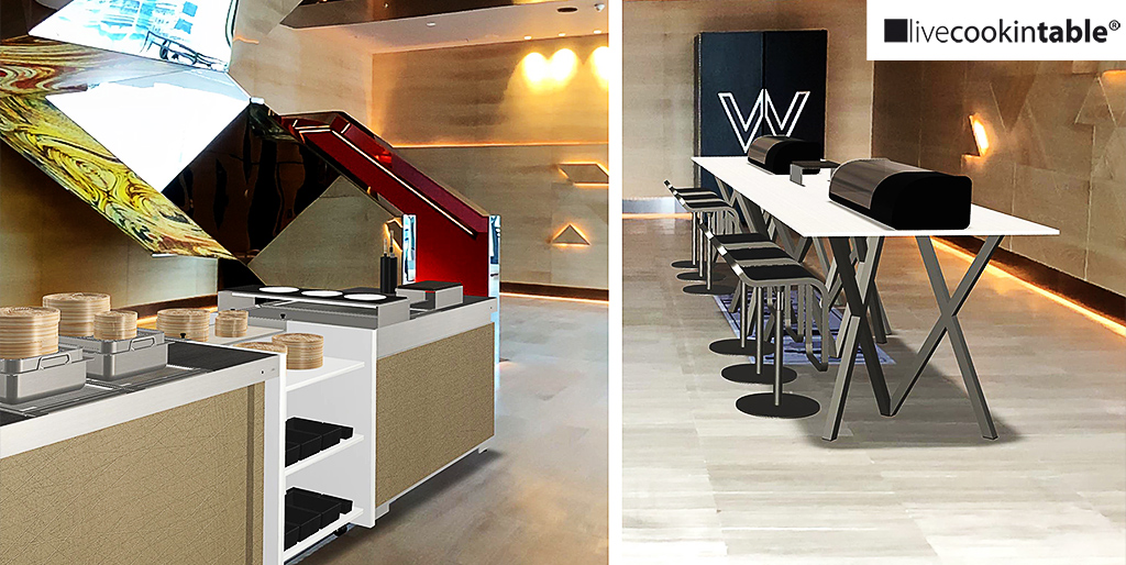 W Hotels opted for livecookintable