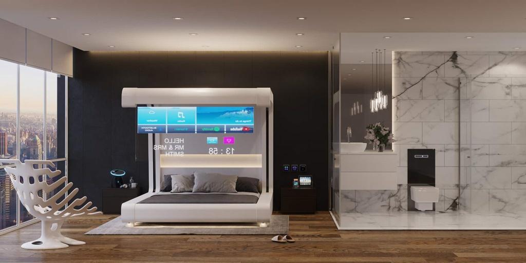 Timbres, silbidos y robots: Guestline muestra un prototipo de una habitación de hotel del futuro