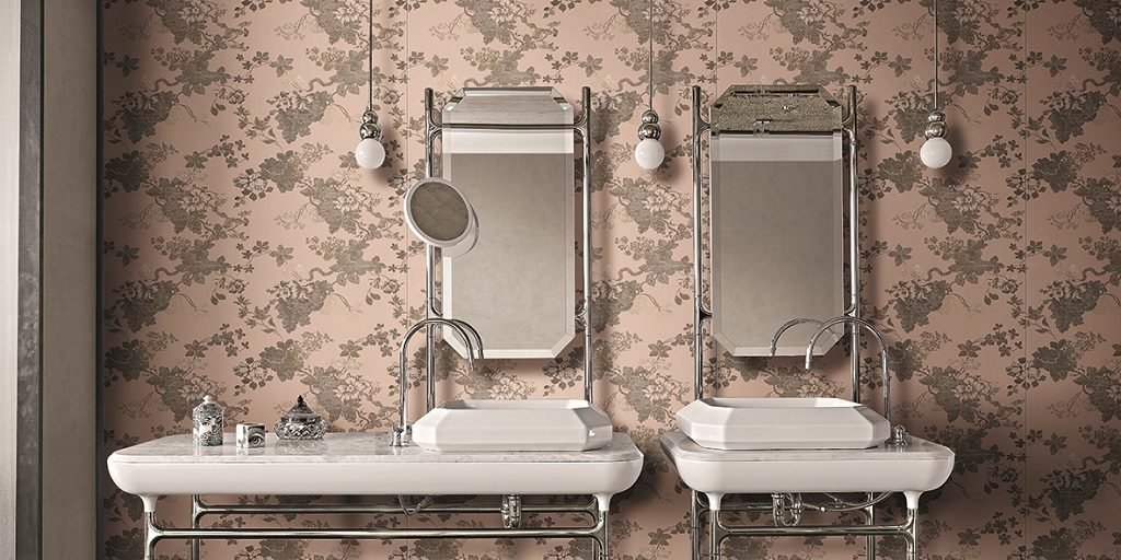 "Rubelli inspires the new ceramic collection by Florim, ""i filati di rex"""