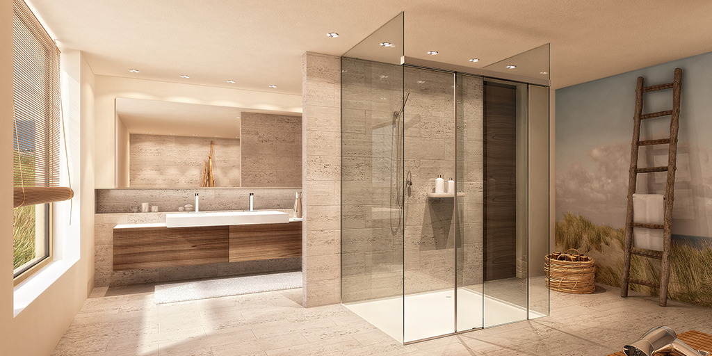 Small hotel bathrooms become wellness oases