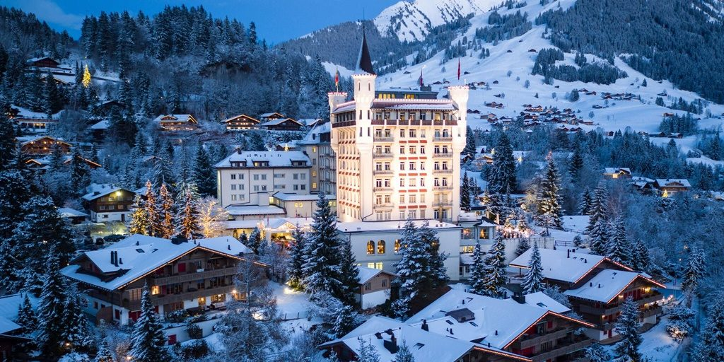 Winter wonderland comes to life in luxurious Gstaad Palace in Switzerland