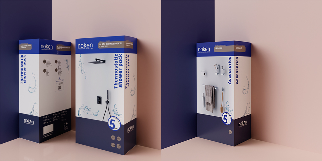 Noken comes up with a more efficient configuration with its new Packs for the Hotel Bathroom