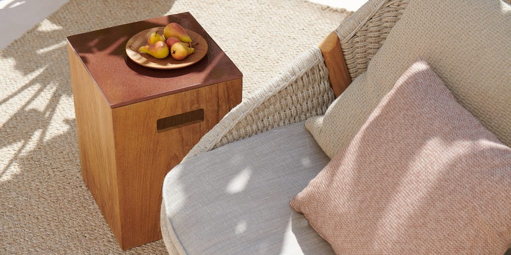 Tribù's new Tairu side table combines simple lines with artisanal craftmanship
