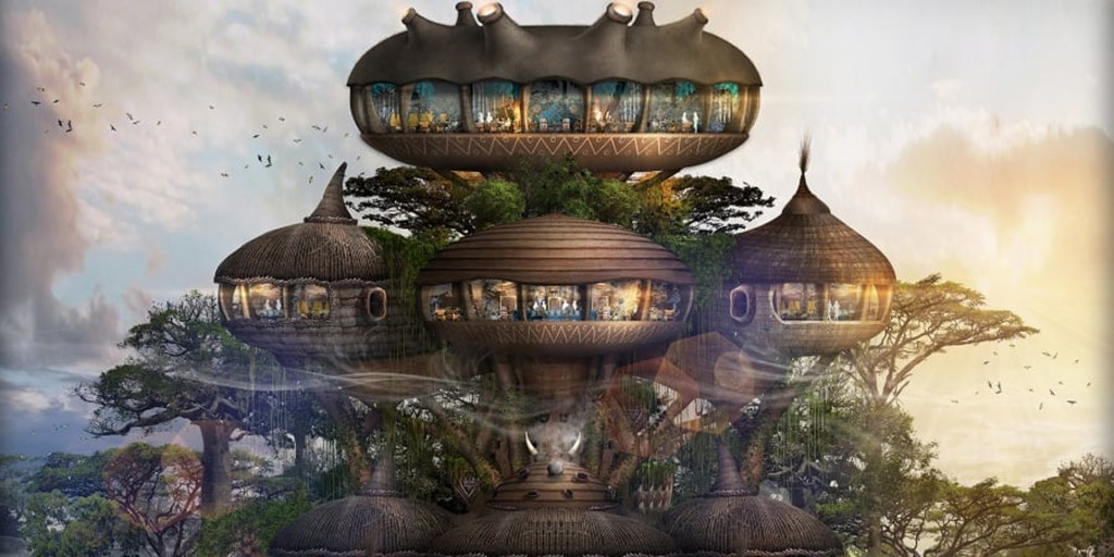 "Bill Bensley designs a Hilton ""zoo hotel"" for humans in China [Construction Report]"