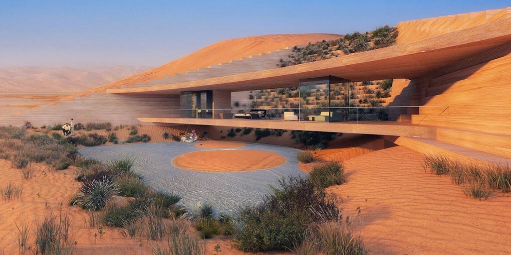X Architects gana el concurso con el diseño futurista de un centro turístico en el desierto
