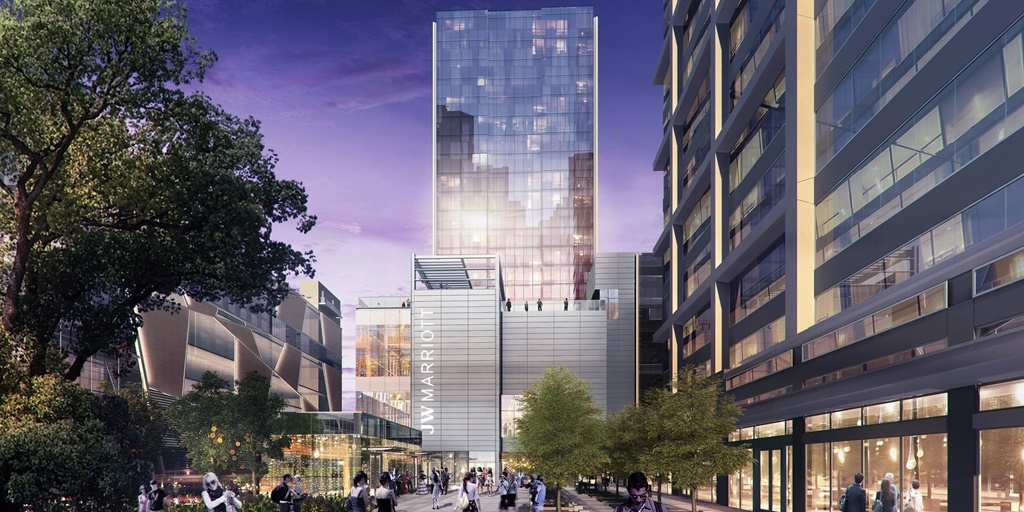 JW Marriott Charlotte passes key construction milestone