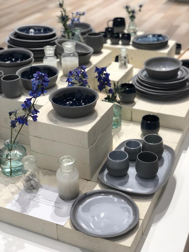 Never or N.O.W? the first collection of tableware sustainably designed made from recycled ceramic Recyclay