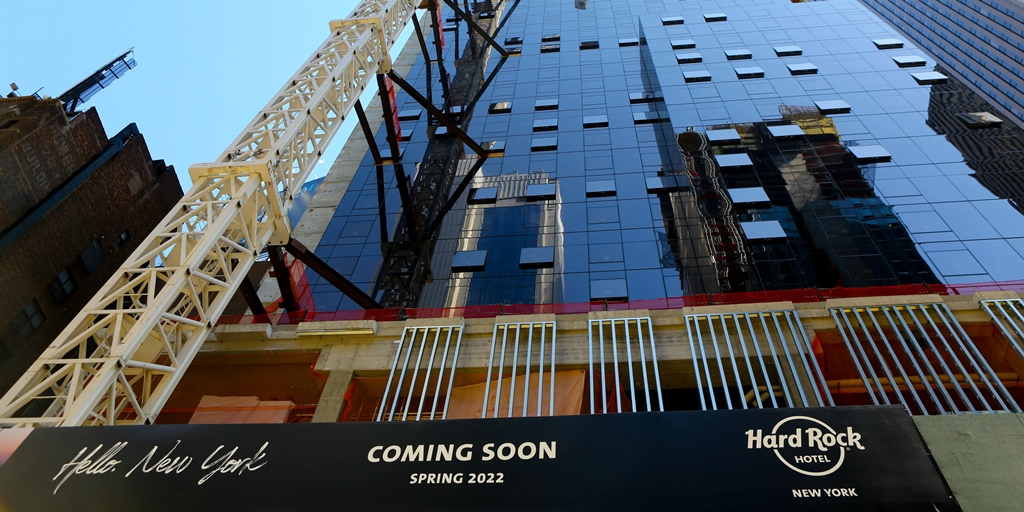 Hard Rock Hotel New York reaches key construction milestone