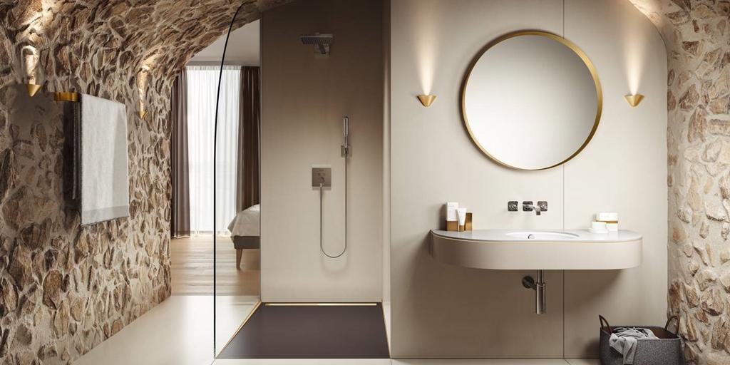 Floor-level channel shower made of superior KALDEWEI steel enamel