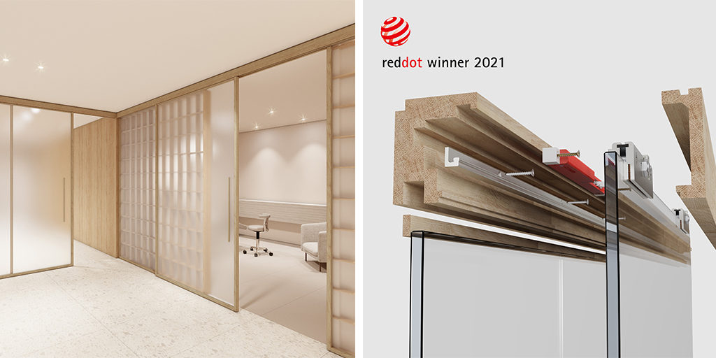 The first fully standardised oak wood sliding system: Nature