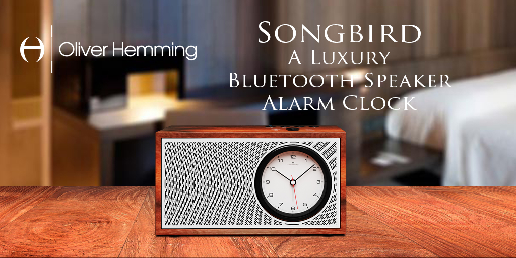 Introducing the Oliver Hemming collection: Award-winning luxury alarm clocks and Bluetooth speakers