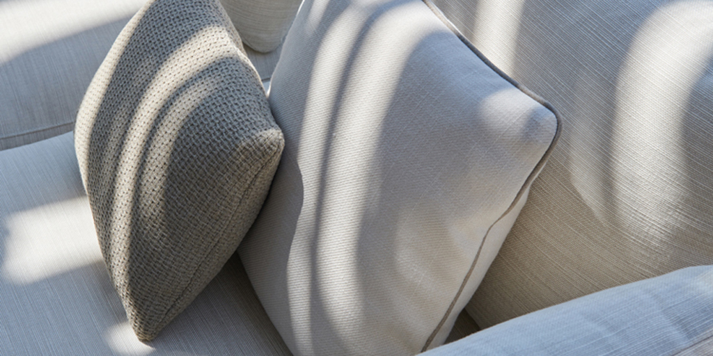 The refined tactility of Tribù's outdoor fabrics