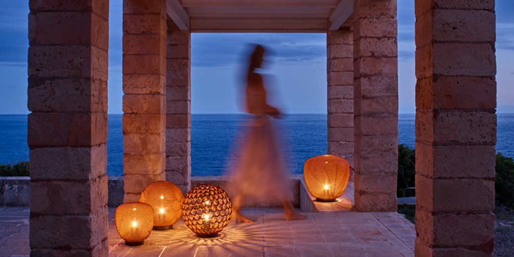 The magic of Tribù's Monsieur Tricot outdoor lighting